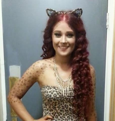 last minute halloween costume idea leopard