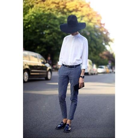 borrowed from the boys #loafers #gucci #hoserbit #hat #fedora #whiteshirt #checkers #sleek #feminine #fbcreationsdoesfall