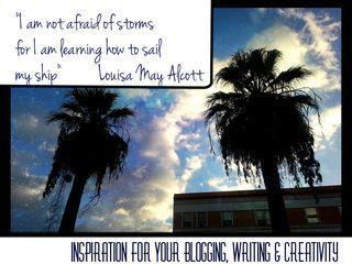 Inspiration for Your Blogging, Writing & Creativity - Louisa May Alcott quote & prompts