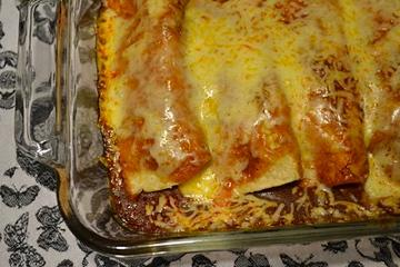 Easter Menu: Avocado & Pinto Bean Enchiladas + Apple Cherry Crisp