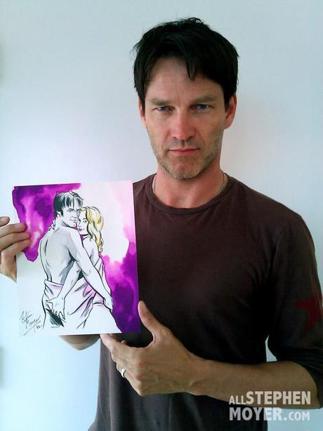 Charity Auction of Original Andy Swist Art Work signed by Anna Paquin & Stephen Moyer
