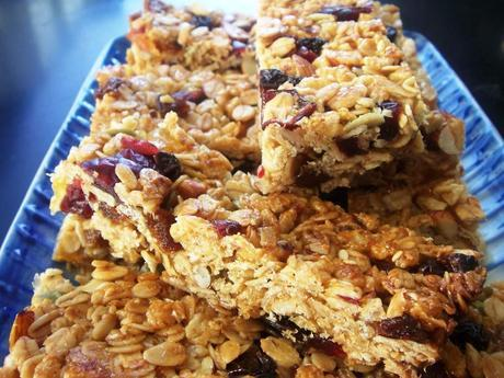 Home made muesli bars