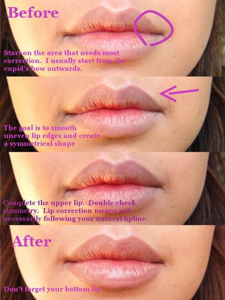 Fuller, More Even Lips Tutorial with NYX Nude Beige Lipliner – dupe for MAC Stone Lipliner