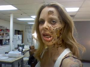 Kristin Bauer van Straten as she prepares to become 'Rotting Pam'.