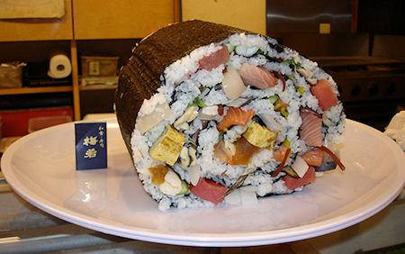 Japanese Restaurant Serves World's Largest Sushi Portions