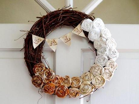 Easy Fall Ombre Wreath Tutorial