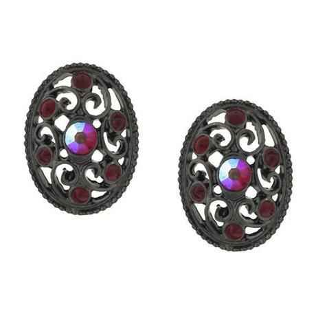 red cranberry earrings