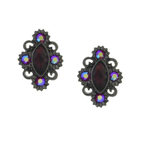 cranberry jewel earrings