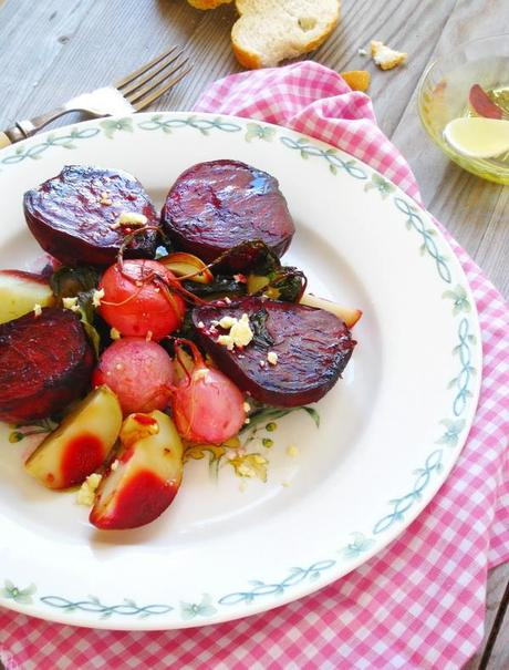 Roasted Beetroot Salad with Radishes and Potatoes