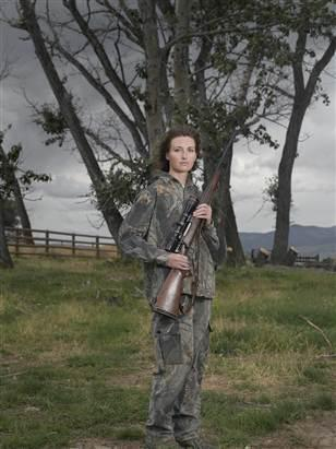Image: Jen, a woman pictured with a gun in the book