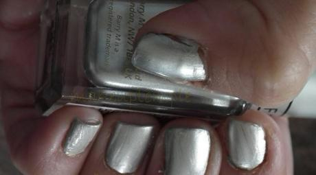 Swatches:Nail Polish Collections:Nail Polish:Barry M:Barry M Instant Nail Effects Silver Foil Swatches