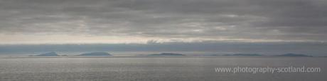 Landscape photo - islands on a hazy horizon, Scotland