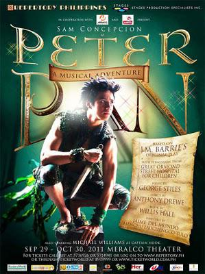 At Meralco Theater until Oct. 30--Rep and Stages' Peter Pan, A Musical Adventure