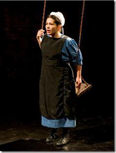 Sadieh Rifai is unforgettable in American Theater Company's 'The Amish Project,' by Jessica Dickey, directed by PJ Paparelli. (photo credit: Michael Brosilow)