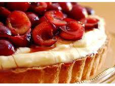 Tart with Chantilly Cream Cherries