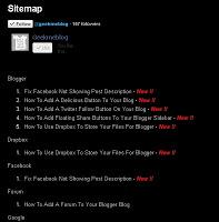 How To Make A HTML Sitemap For your Blog