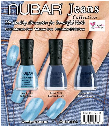 Upcoming Collections: Nail Polish Collections: Nail Polish: Nubar: Nubar Jeans Collection