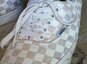 Street Feet: White Checkerboard Vans