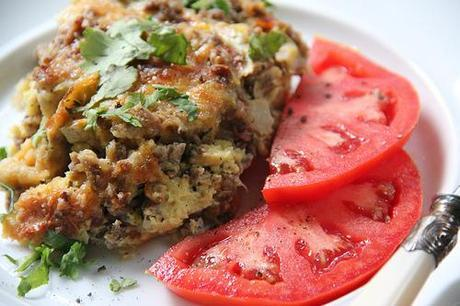 #11 One Pot Wonders: Italian Sausage, Zucchini, and Bell Pepper Bread Pudding