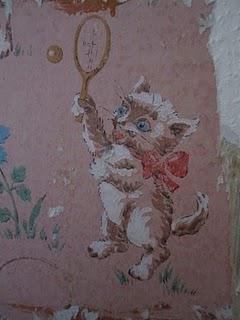 Home Improvements Vintage Cat Wallpaper Paperblog