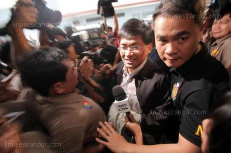 Dacer Slay Case: Michael Ray Aquino Arrives at the NBI Office