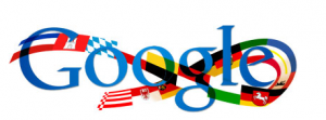 German unity day Google logo