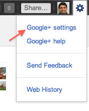 Google+ Settings