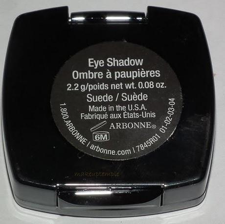 Swatches: Eye Shadow:Arbonne:Arbonne Suede Eye Shadow Swatches