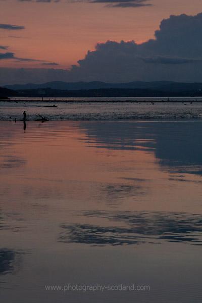 Landscape photo - sunset over the Forth estuary at Cramond, Edinburgh