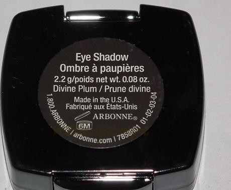 Swatches: Eye Shadow: Arbonne: Arbonne Divine Plum Eye Shadow Swatches