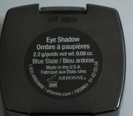 Swatches:Eye Shadow : Arbonne:Arbonne Eye Blue Slate Shadow Swatches