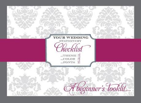 Your Wedding Stationery Checklist