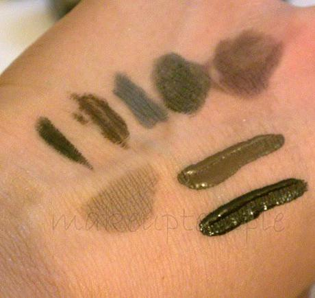Swatches:Arbonne: Arbonne Eye Liner & Lip Stick- Gloss Blush & Foundation Swatches