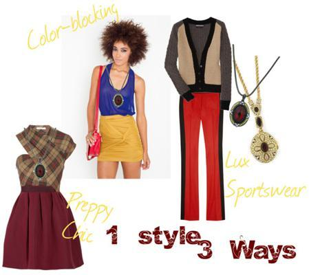 143 red pendant1 Style, 3 Ways: How to Dress Well Using One Piece