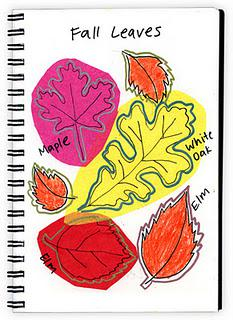 Art Journaling 136, Tissue Paper Fall Leaves