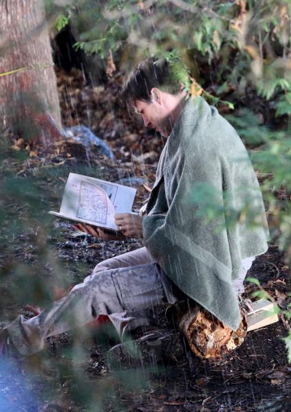 Stephen Moyer on a wet and creepy The Barrens set