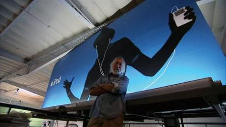 iPod Billboard with Lee Clow from TBWA\Chiat\Day