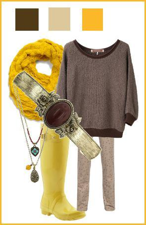 what to wear with a yellow scarf