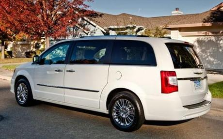 2011 Chrysler Town and Country Rear Side View