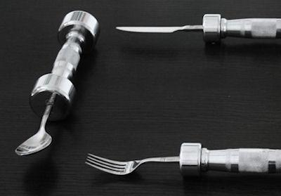 Dumb-Bell Cutlery To Eat Yourself Skinny
