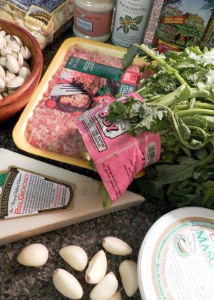 Orecchiette with Italian saisage & Rapini-Pistachio Pesto -Ingredients