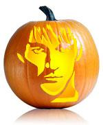 True Blood's Bill Compton pumpkin stencil