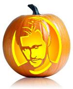 True Blood's Eric Northman pumpkin stencil