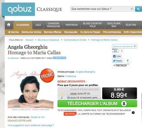 Homage to Maria Callas, available for buying in MP3 on Qobuz Classique