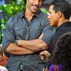 Joe Manganiello At The Grove To Do An Interview On EXTRA