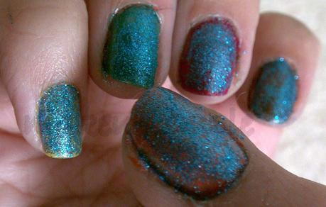 Product Reviews:Gosh:Gosh Nail Glitter Blue Sapphire Swatches & Reviews