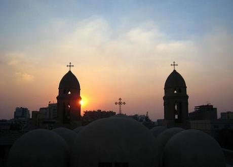 Coptic Christians clash with police as sectarian tension threatens peace in post-Arab Spring Egypt