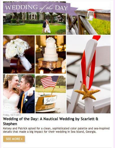 Featured on The Knot's WeddingChannel.com
