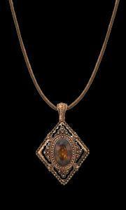 diamond shape geometric necklace
