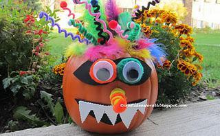 Crazy Incredibles Pumpkin Craft for Preschoolers